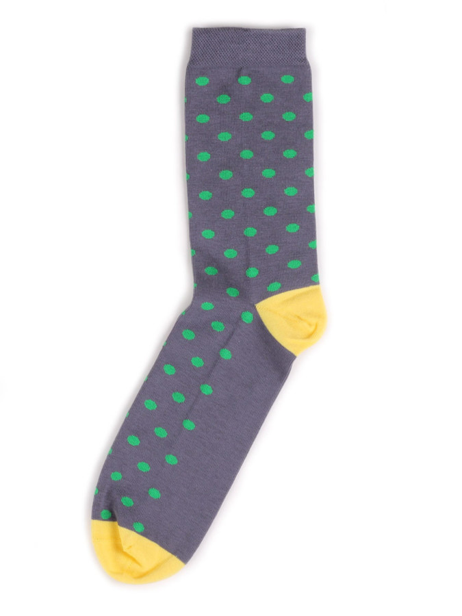 PolkaDot - Grey/Green/Yellow