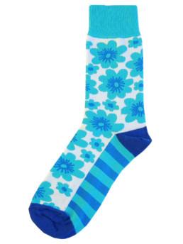 Носки с берюзовыми цветами